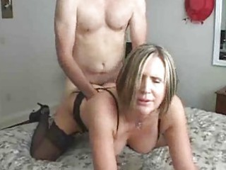 older  woman teaching amateur guy