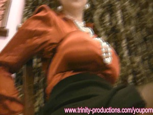 slutty satin milf distress ripped clothes joi