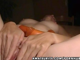 older  young wife toys, licks and bangs with