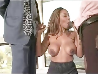 ebony gorgeous woman in the office