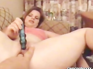 young lady takes fucked by hubby
