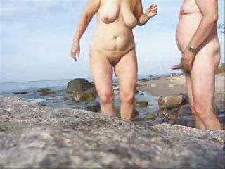 older  pair fuck on the beach-wear-tweed