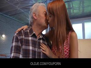 fresh erica copulates the old grandpa