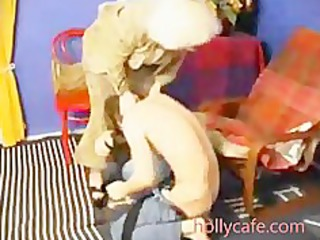 elderly lady spanks him and after that fucsk him