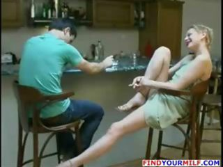 russian milf worships to swallow