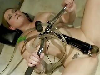 beautiful shooting lady gangbanged by devices