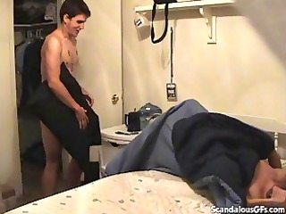 mom catches her skanky daughter having hot porn