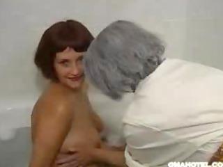 granny enjoys to massage
