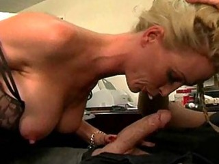 sweet lady with giant chest gives out agency cock