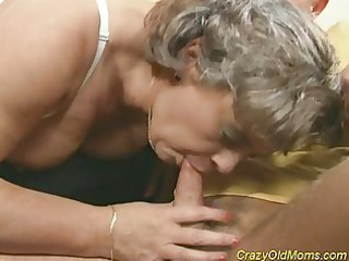 horny granny milf acquires cock drilled and