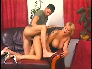 goldenhaired mommy with best jugs pumped on a
