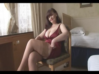 huge tits grown-up panty enjoy and striptease