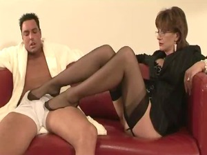 mature underwear whore femdom footplay