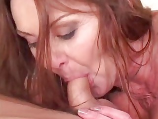 naughty blond woman entices giant y...