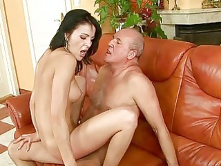 hot amateur likes uneasy  fuck with grandpa