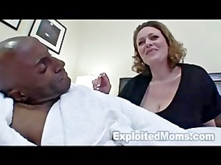 slutty mom inside inexperienced interracial video