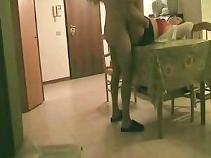 hidden cam. fucking my italian aunt on the stall