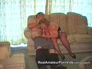 a chubby old has porn with her fucker