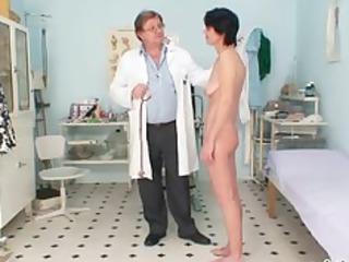 skinny lady weird kitty fisting by gyno nurse