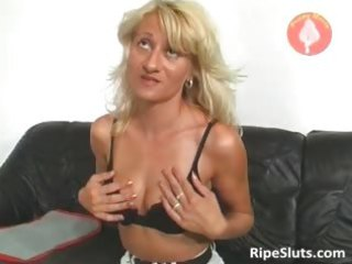 very awesome older  albino takes juicy pussy