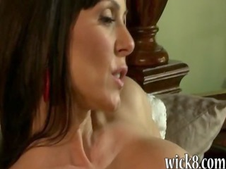 desperate lady in nylons fucks hot on top of a