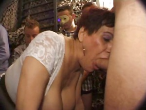 naughty french grown-up sucks cock with a fresher